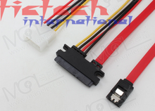 by dhl or ems 100pcs SATA Combo Data Cable to 4 Pin IDE Molex & Serial ATA Power HDD DVD Adapter Lead(China)
