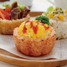 Japanese Style Cute Rice Cup Mould Baked DIY Rice Ball Mold Creative Lunch Box Gadget Kitchen Tool Roll Sushi Rice(China)