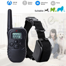 Heropie 300 Meter 100LV Level Remote Electronic Shock Vibra LCD Display Remote Control Pet Dog Training Collar For 1 Dog