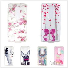 Luxury Silicone Cartoon Cover For LG Leon C40 C50 H340N H320 H324 Cute Bear Owl Cartoon TPU Rubber Soft Phone Protective Cases