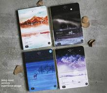 The Silent Night Theme Watercolor Fashion Notebook 18.3*13cm Blank Paper Diary Book 80 Sheets Creative Sketchbook Gift