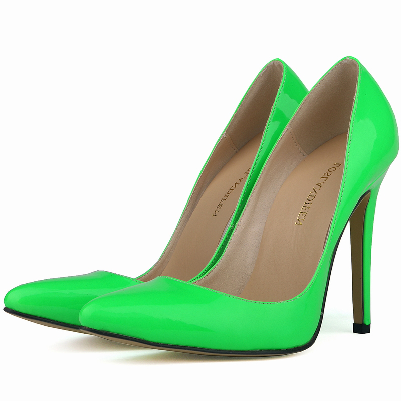 LOSLANDIFEN Brand Shoes Women High Heel Fetish Shoes Patent Leather Pointed Toe Stiletto Pumps Wedding OL Dress Shoes 34-42<br><br>Aliexpress