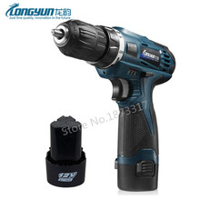 12V Double Speed Electric Screwdriver Rechargeable Lithium Battery*2 Cordless Electric Drill  Multi-function Power Tools