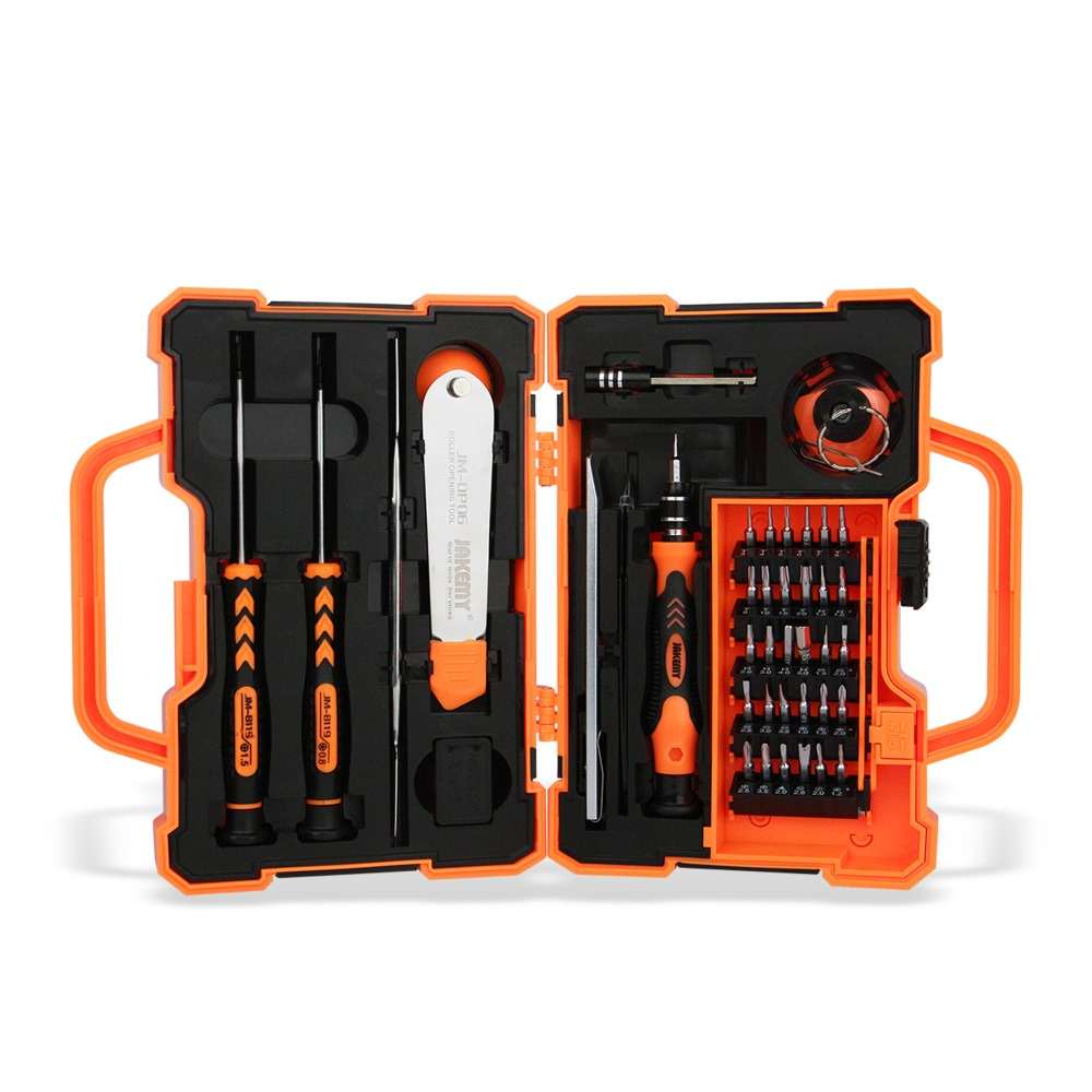 Original Jakemy 8139 Hand Tool Sets Combination house hold computer smartphone repair tool set Screwdriver Bits tool set(China)