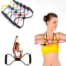 Yoga Tube Sports Pulling Exerciser  8 Type Muscle Chest Expander Rope Workout Fitness Exercise Resistance Bands
