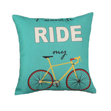 Ride Bicycle Back Cushion Without Inner Design Polyester Cotton Home Decor Sofa Car Seat Bike Decorative Throw Pillow Funda