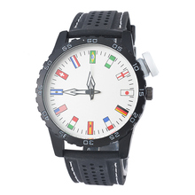 MJARTORIA Football Soccer World Cup Unisex Fashion Sport Silicone National flag Watch Women Men Bracelet Quartz Wristwatch Gift