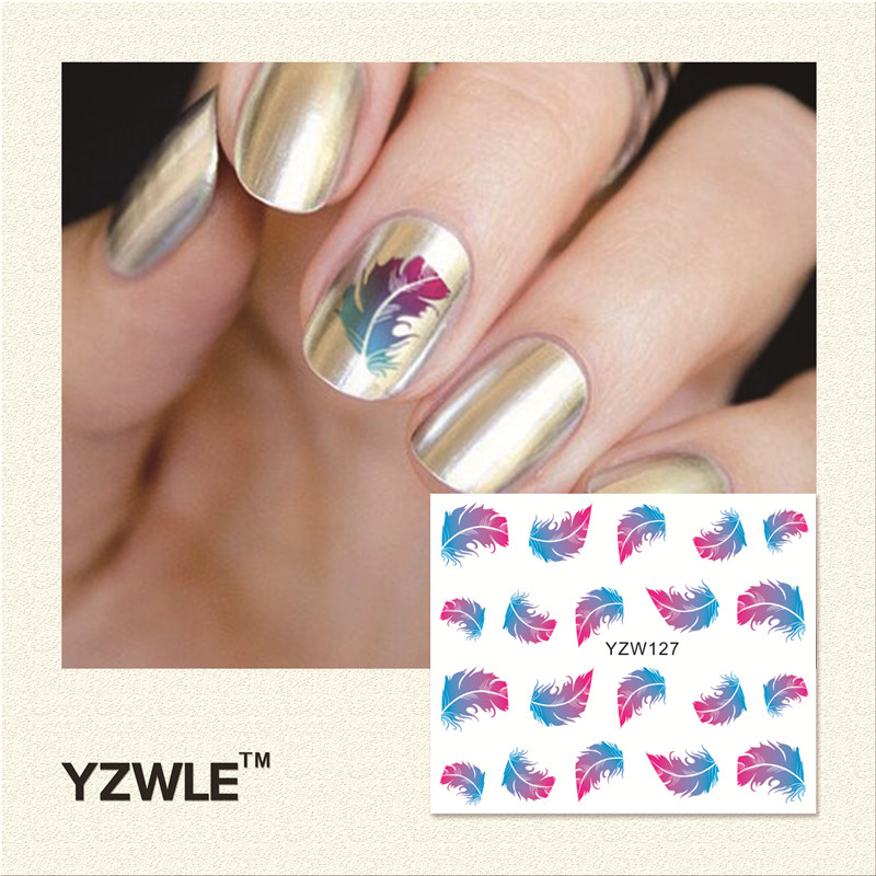 YZWLE 2016 New Hot Sale Water Transfer Nails Art Sticker Manicure Decor Tool Cover Nail Wrap Decal (YZW127)<br><br>Aliexpress