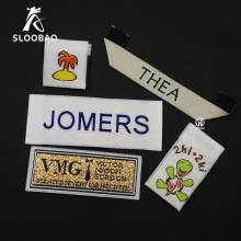 Customized clothing tags washable garment labels custom woven labels for clothing brand name labels logo woven tags