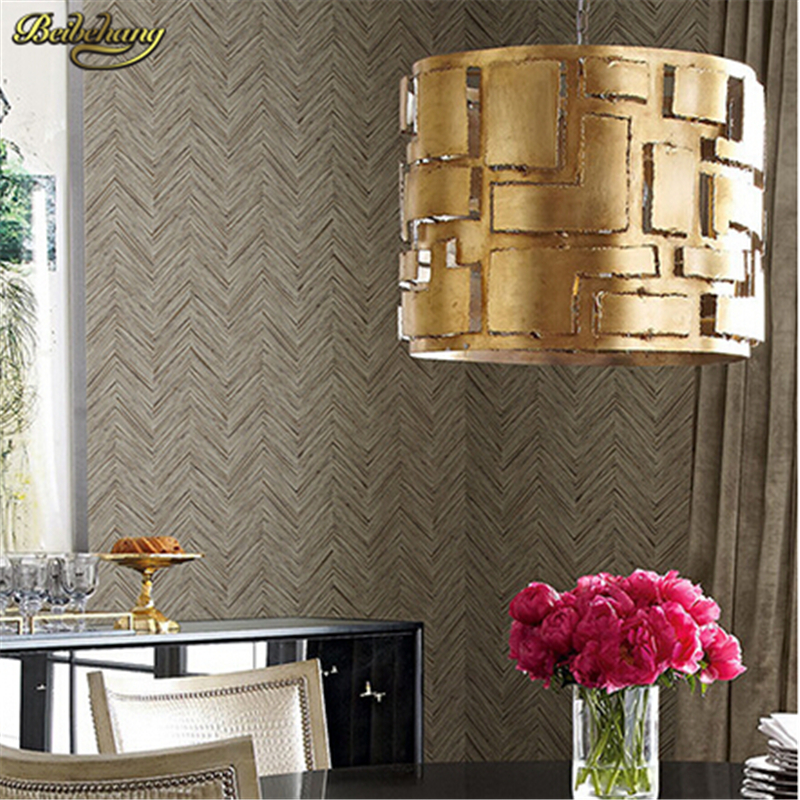 beibehang Wallpaper modern 3d wall covering wave pattern wall paper roll simple beige wallpaper for study papel de parede<br>