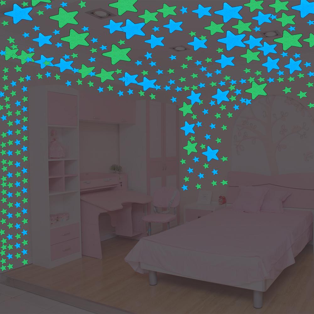 HTB1Ysa5RVXXXXavXpXXq6xXFXXXb - 100pcs Fluorescent Glow in the Dark Stars Wall Stickers for Kids Rooms