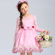 Girls pink tutu dress summer spring prom for 3 4 5 6 7 8 9 10 11 years old flower girl wedding party princess brand formal dress