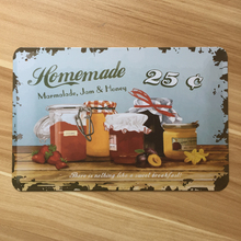 Metal tin signs Jam Kitchen wall art painting Vintage restaurant poster house iron decoration retro plate 20*30 cm free shipping