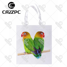 Couple of parrots on a branch-2 bird Print Custom individual lightweight polyester fabric Reusable Bag gift bag
