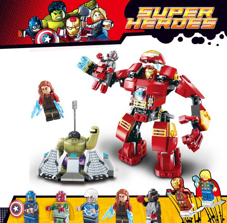 Decool 7110 Building Blocks Super Heroes Avengers The Hulk Buster Smash Assemble set Bricks Toy compatiable 76031<br><br>Aliexpress