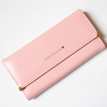 Hot Luxury Long Women's Purse Famous Female Brand Women Wallet Money Bags Lady Coin Purse Fashion Design Candy Color Clutch Bag(China)