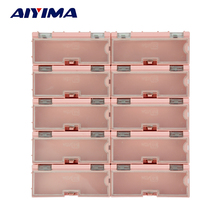 10pcs SMT SMD Kit anti-static Laboratory Electronic Components Storage Boxes Tool Case(China)