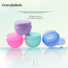 5pcs Travel Empty Makeup Jar Pot Travel Face Cream/Lotion/Cosmetic Container 8 Colors 10g 38.5*28.5mm(China)