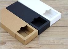 Qi Size:32*20*5cm 10pcs/lot Kraft Paper Soap Packaging Box Large Size Carton Box Black Paper Gift Packing Jewelry Boxes