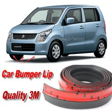Car Bumper Lips For Suzuki Karimun Wagon R / Solio Front Lip Deflector Lips Skirt / Body Kit Strip Body Chassis Side Protection
