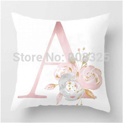 letter pillow case