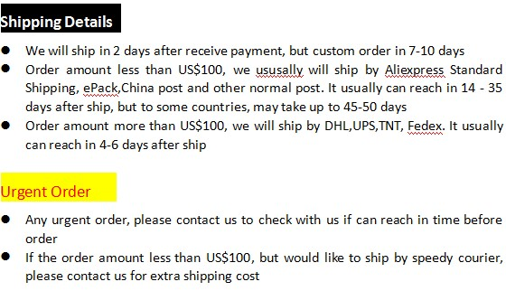 1pc Shipping and Urgent