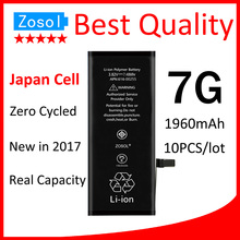 10pcs/lot Original Quality 0 zero cycle Battery for iPhone 7 1960mAh 3.82V Replacement Repair Parts(China)