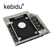"Kebidu Universal 9.5mm Second HDD Caddy 2nd SATA 3.0 Hard Disk Drive 2.5"" SSD Enclosure for Macbook Pro Air etc CD DVD ROM"