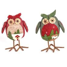 Christmas Kawaii Animal Owl Dolls Cute xmas Tree Party Accessories Home table office Ornaments Christmas decoration Kids Gift 3
