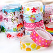 10pcs Mixed Colors Japanese Washi Tape Hobby Decorative Crafting Tape Scrap Cute(China)