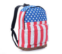 2016 Hot Sale Canvas Backpack USA and UK Flag Printed Backpacks Fashion School Bag Casual School Backpacks bolsos H632