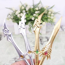 Cute Kawaii Gem Plastic Gel Pen Creative Sword Canetas Novelty Item For Writing Gift School Supplies Free Shipping 3197(China)