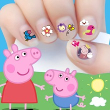 2017 New arrive korea style Waterproof 3D Nails Sticker little piggy Design Nails Foil Sticker Decor Decals for make up children
