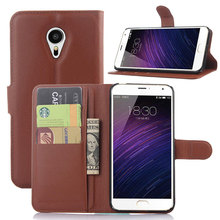 Effelon For Meizu MX5 PU Leather Case For Meizu MX5 Wallet Flip Cell Phone Cover With Card Slot(China)