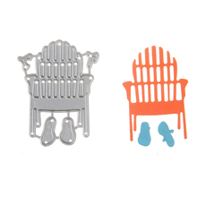 2017 New Arrival  Beach Chair Slippers Cutting Dies Scrapbooking Metal Cutting Stencils Dies For DIY Decorations Embossing