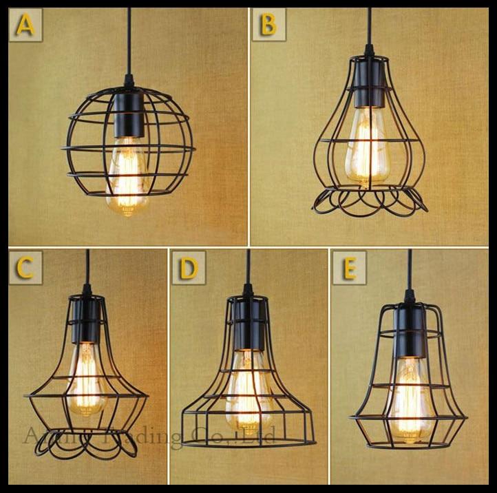 Lamp rustic restaurant bar cafe bedroom bedside study minimalist modern single-head wrought iron samll hanging pendant lights<br>