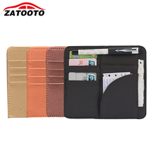 Universal Car Visor Card Clip Holder Auto Storage Organizer Car-styling Stowing Tidying Bag Car Accessories