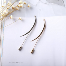 CP54014 Free Shipping 50PC/Lot elegant men and women crescent moon lapel stick brooch pins(China)