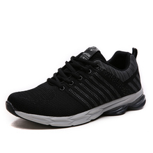 New Arrival Adults Men's Running Shoes Breathable Mesh Lace Up Outdoor Running Sneakers Athletic Shoes(China)
