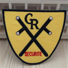 Embroidered iron on patches for clothes Logo CR SECURITE Badge deal with it clothing biker patch DIY Motif Applique Freeshipping