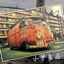 vintage tin signs VW bus retro iron painting vintage car tin plate bar antique wall decoration posters 42*30cm