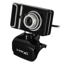 USB HD Webcam Clip-on 360 Degree Rotation Web Camera Computer Web Cam 3 LED with Microphone MIC Webcamera For Android TV PC(China)