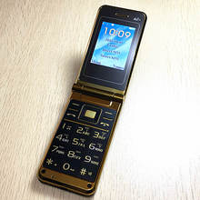 flip russian keyboard dual sim cheap senior mobile phone gsm china Phone Elder clamshell Cell phones TKEXUN H-mobile K558(China)