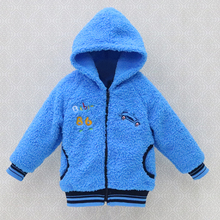 2017 new style winter baby long sleeve coral fleece hoodie jackest girls warm coats boys kids clothes fashion kidswear clothing