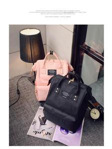Teenager Backpack Shoulder-Bag Female-Bag Knapsack Women High-Capacity Mochila Pure-Color