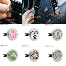 (Ship from US) Stainless Car Air Auto Vent Freshener Essential Oil Diffuser Gift Locket Decor Car outlet perfume folder Hot Sale(China)