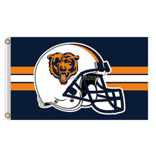 helmet design Chicago Bears Flag Banners Football Team Flags 3x5 Ft Super Bowl Champions Banner Red Star 90 x 150