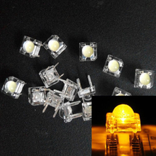 20Pcs 5mm F5 Piranha LED Yellow Round Water Clear Head Super Flux Ultra Bright Lens LED Light Emitting Diode Lamp Through Hole(China)