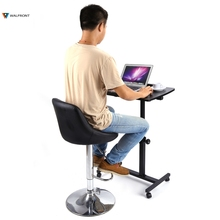 Household Lazy Bedside Mobile Computer Desk Height Angle Adjustable Laptop Desk Stand Lap Tray Computer Table Durable(China)