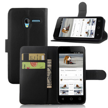 Fashion Wallet PU Leather Case For Alcatel One Touch Pixi 3 (4.5 inch) Magnetic Filp Cover Fundas Holder Stand Mobile Phone Bag